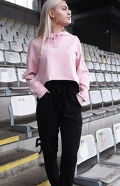 jacket,girly,pink,sweater,cropped,crop top sweater,hoodie
