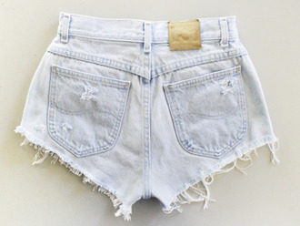 shorts high waisted shorts jeans shorts high-wasted denim shorts denim vintage levis levis shorts white jeans