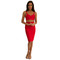 Ariana two-piece dress in red – noodz boutique