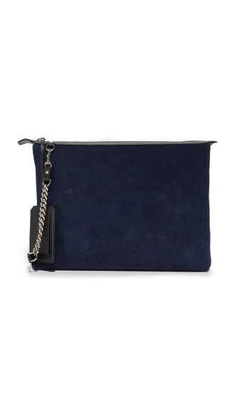 pouch navy bag