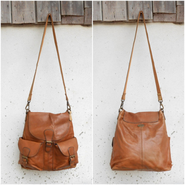 bag fossil bag fossil leather bag brow leather bag cross body leather bag vintage fossil bag men leather bag vintage