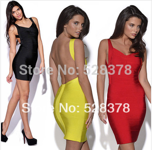 11 colors, xs xxxl 2014 new summer strap women dress lady clothing sexy bandage dress mini slim bodycon backless dresses t510
