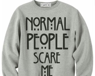 sweater grey normal people scare me american horror story grey sweater