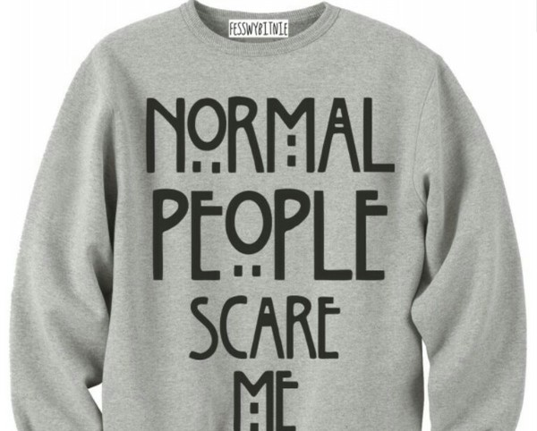 sweater grey normal people scare me american horror story sweater grey sweater