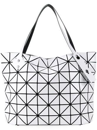women geometric bag tote bag white