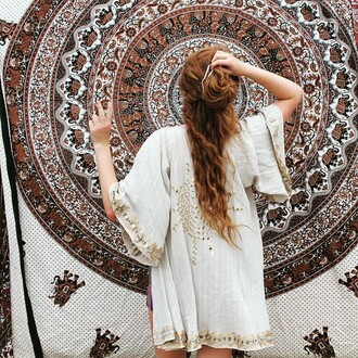 cardigan white cream sparkle summer holidays beach indie boho festival outfit girl