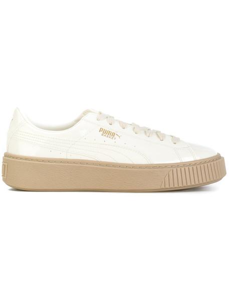 puma women sneakers platform sneakers white neoprene shoes
