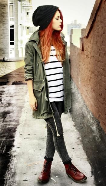 coat jeans shoes hat shirt khaki army green jacket jacket sweater pants