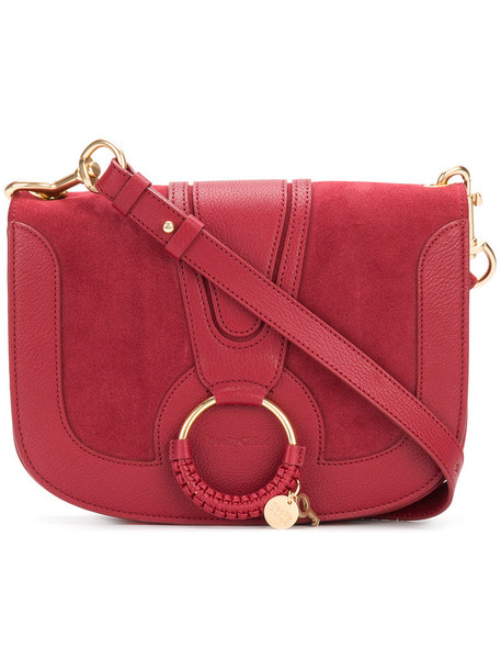 See by Chloe women bag shoulder bag leather cotton red