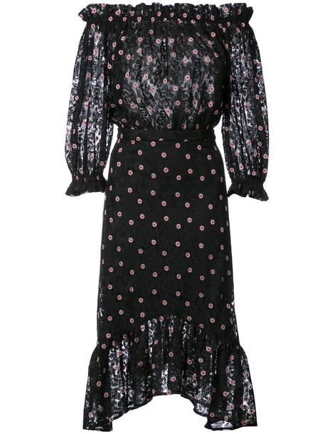 Saloni dress tulle dress women black
