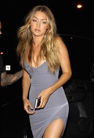 dress grey slit bodycon dress slit dress v neck dress