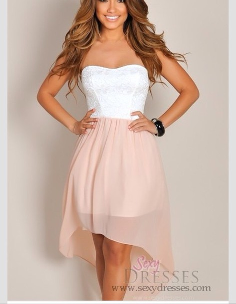 Strapless White Summer Dress - Fn Dress