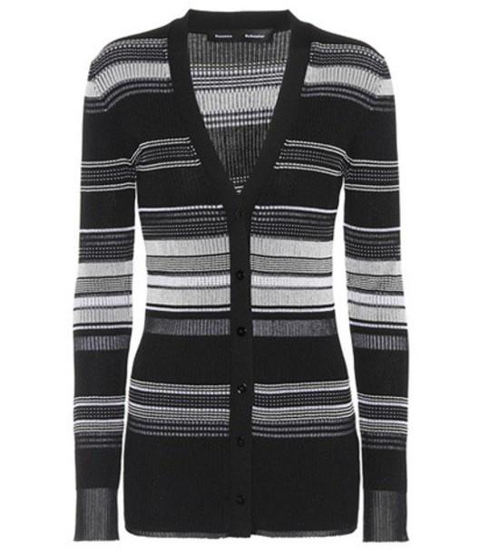Proenza Schouler cardigan cardigan cotton black sweater