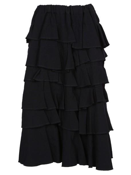 Comme des garcons skirt midi skirt midi black