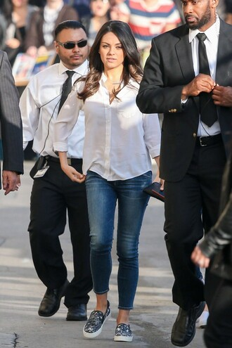 jeans flats mila kunis shoes