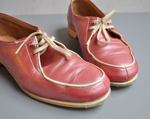 Vintage pearl pink bowling shoes 75 by mariesvintage on etsy