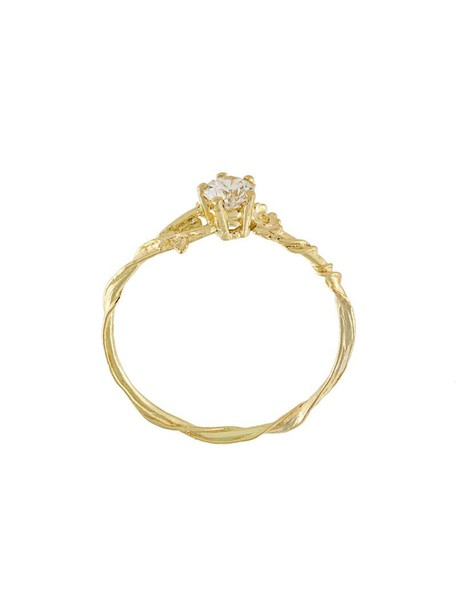Alex Monroe women ring gold yellow orange jewels
