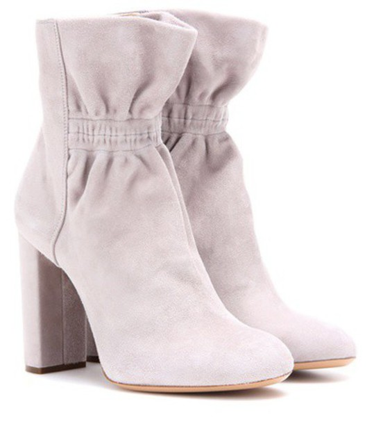 Chloe suede ankle boots boots ankle boots suede grey shoes