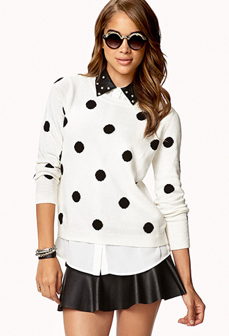 Polka Dot Sweater | FOREVER21 - 2059751535