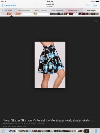 skirt summer skirt blue skirt floral skirt