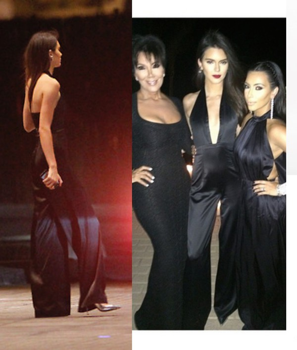 jumpsuit black kendall jenner shoes silk