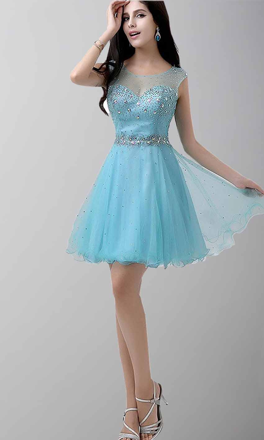 Shining Illusion Sweetheart Short Dresses for Prom KSP471 [KSP471 ...