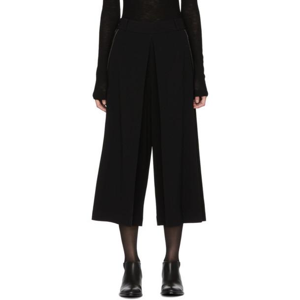 Alexander Wang Black High Waisted Folded Trousers