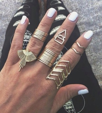 jewels geometric ring boho
