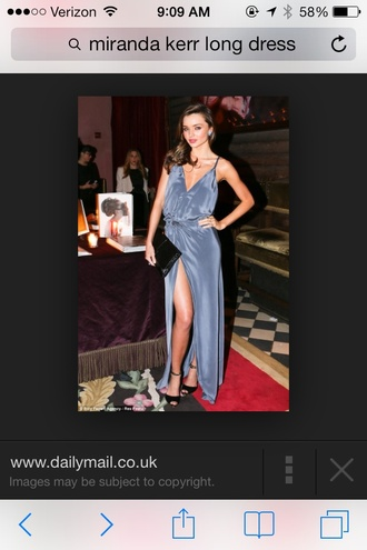 dress blue dress miranda kerr long dress prom dress