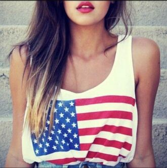 american flag tank top cute summer outfits style fashion
