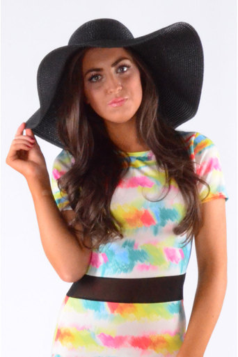 1aa41f07 Ladies Shad Straw Floppy Hat In Black at Pop Couture UK