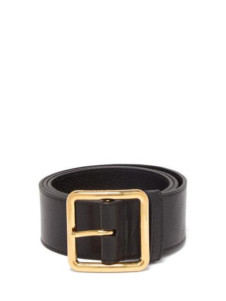 belt waist belt leather black