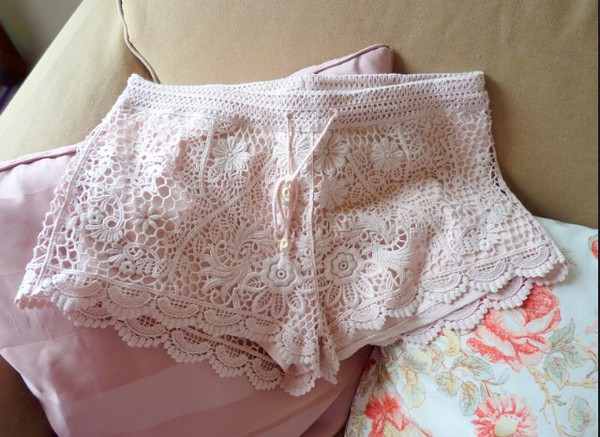 shorts cute shorts pink embroded embrodered embroidered