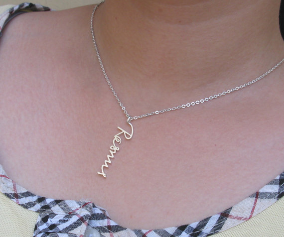 Personalized Signature Necklace   Signature Jewelry  by Bestyle