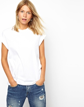 ASOS | ASOS Boyfriend T-Shirt with Roll Sleeve at ASOS