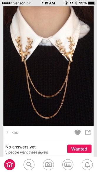 jewels collar clip moose antlers
