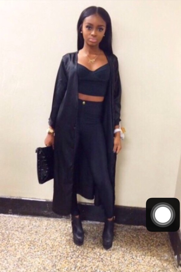 Cardigan: long prom dress, allblvck, all black everything, all ...