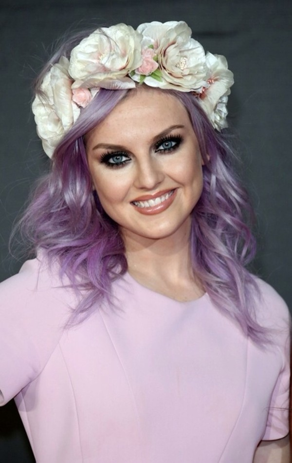hat perrie edwards flower crown