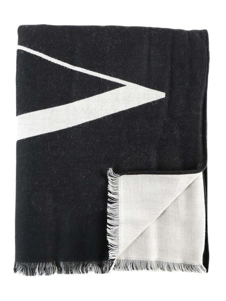 Valentino Garavani Vltn Logo Scarf in black / white