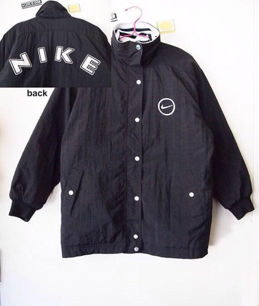 jacket black nike jacket