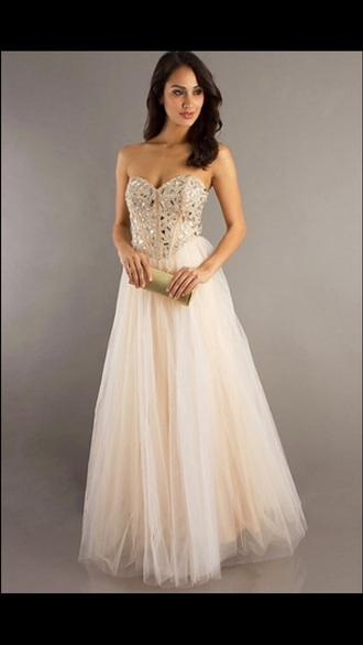 beige dress sequin dress long prom dress