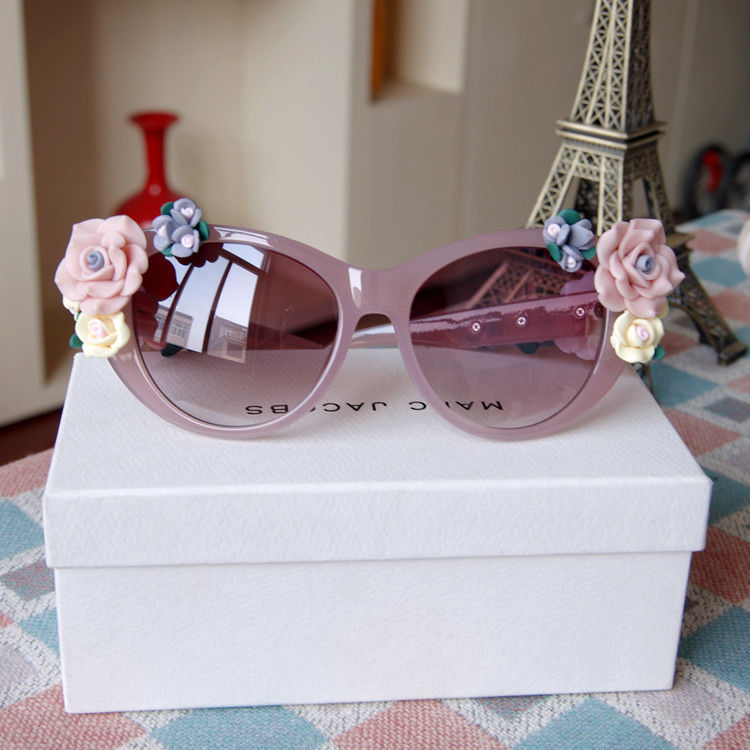 Beach Rose Roses Soft Handmade Ceramic Flower Sunglasses Celebrity Sunglasses | eBay