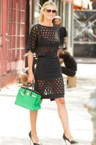 skirt top see through sheer heidi klum sandals two-piece two piece dress set summer outfits all black everything