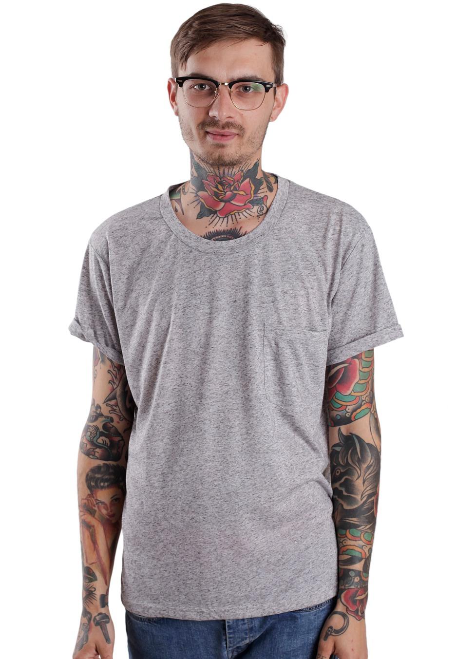 Cheap Monday - Dan Pocket Heavy Grey Melange - T-Shirt