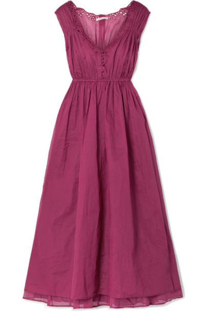 MES DEMOISELLES dress midi dress midi cotton plum