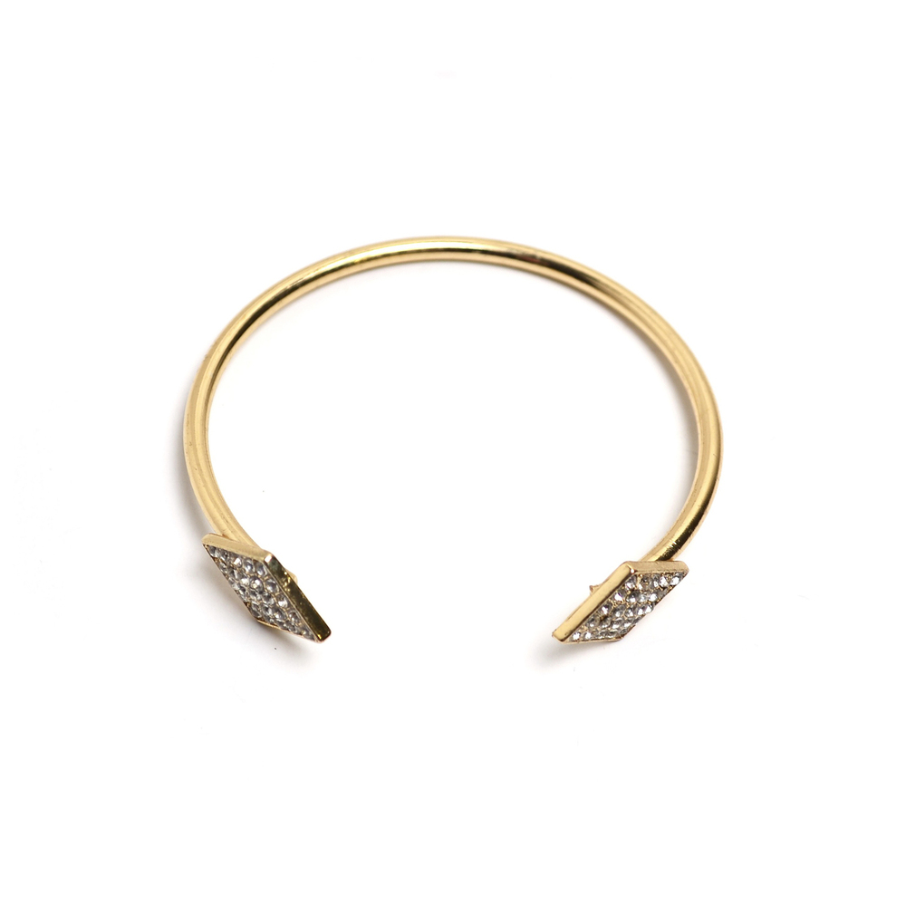 Pave Crystal Geo Bangle
