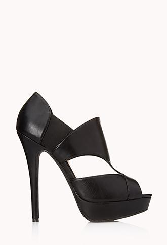 Cutout Platform Heels | FOREVER21 - 2000111375