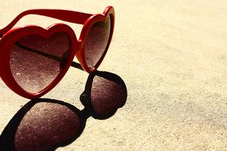 sunglasses red sunglasses red sun heart sunglasses valentines day gift idea