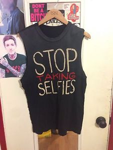 UNIF Stop Taking Selfies SMALL tank
