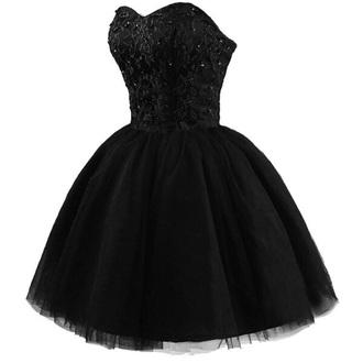 dress black strapless dress